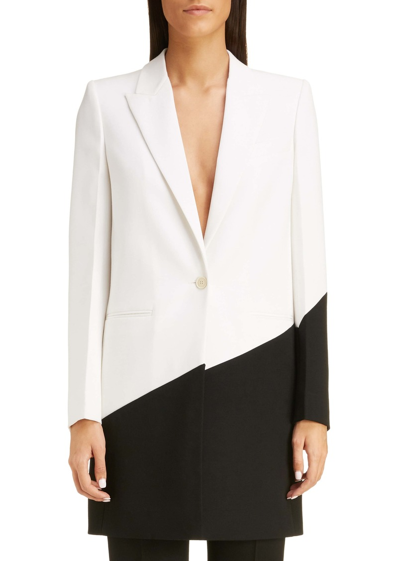 Givenchy Long Bicolor Wool Blazer