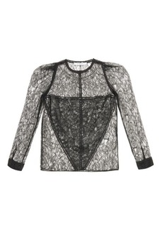 Givenchy Long-sleeved lace blouse