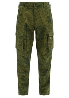 Givenchy Map-print cotton-twill cargo trousers