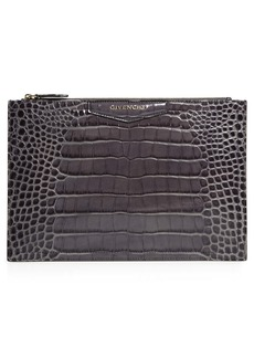 Givenchy Medium Antigona Croc Embossed Leather Pouch