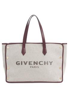Givenchy Medium Canvas & Leather Shopper