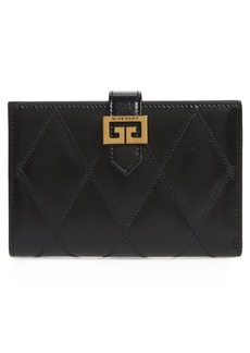 Givenchy Medium GV3 Diamond Quilted Leather Wallet