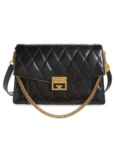 Givenchy Medium GV3 Quilted Leather Crossbody Bag