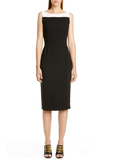 Givenchy Megan Bicolor Wool Midi Dress