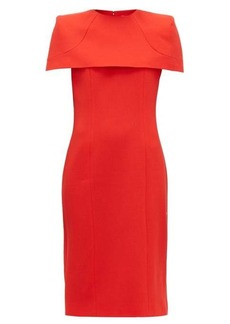 Givenchy Megan cape-sleeve crepe midi dress