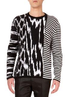 63cebc1316baf SALE! Givenchy Givenchy Star Cutout   Intarsia Wool Crewneck Sweater