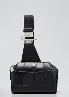 Givenchy Men's Antigona U Croc-Embossed Leather Crossbody Bag