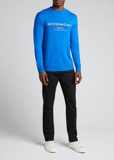 Givenchy Men's Atelier Fine-Gauge Logo Sweater