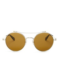 Givenchy Men's Brow Bar Round Sunglasses, 53mm