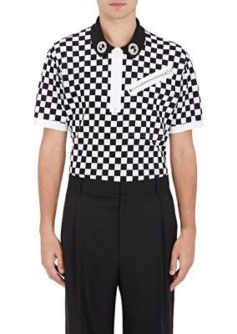 69c69d27 SALE! Givenchy Givenchy Men's Checked Grommet-Detailed Polo Shirt