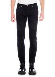 Givenchy Men's Destroyed Denim Skinny Jeans