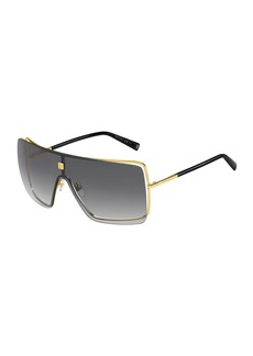 Givenchy Men's Gradient Metal Shield Sunglasses