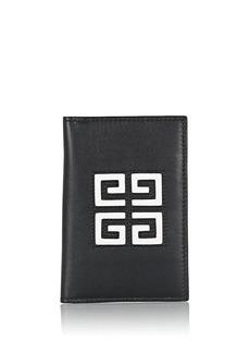 Givenchy Men's Leather Folding Card Case - Black