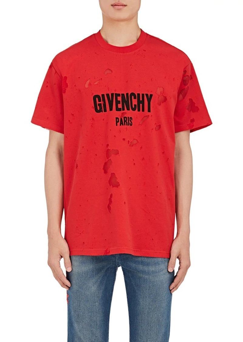 31fec043 Givenchy Givenchy Men's Logo Burnout Cotton T-Shirt   Casual Shirts