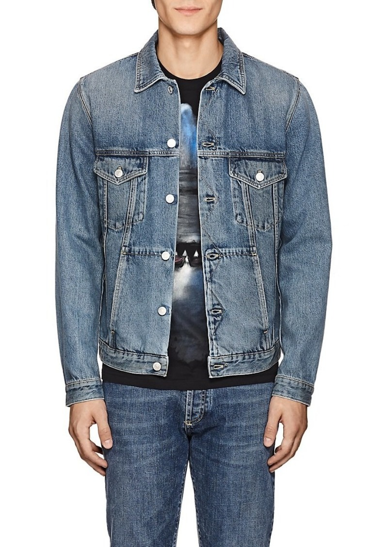 Givenchy Givenchy Men S Logo Embroidered Denim Jacket Outerwear