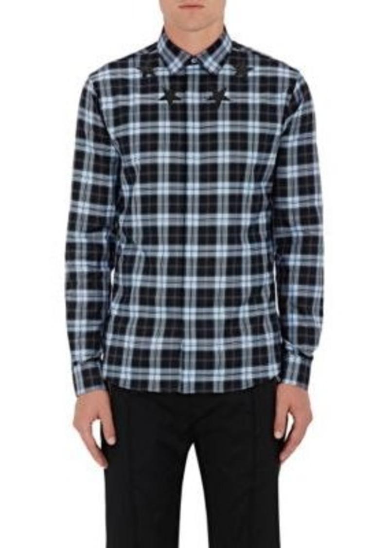 Givenchy Men's Plaid Cotton Shirt Size 39