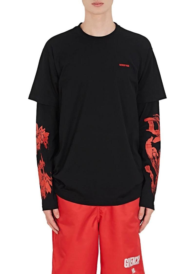 8dad9f98 Givenchy Givenchy Men's Rose-Print Cotton Layered T-Shirt | Casual ...