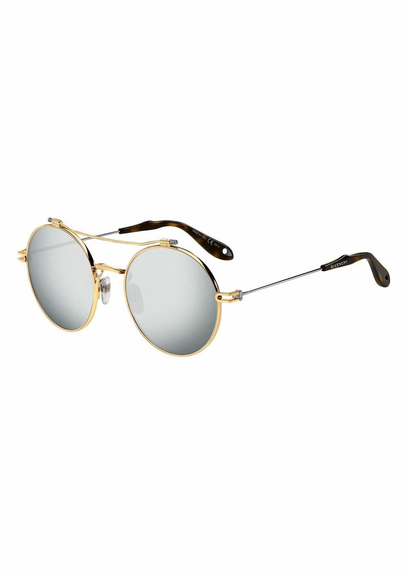 aeaafc0668a Givenchy Givenchy Men s Round Mirrored Metal Sunglasses