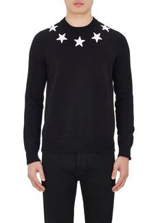 Givenchy Men's Star-Appliquéd Cotton Sweater