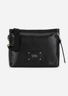 Givenchy Men's Tag Leather Crossbody Bag - Black