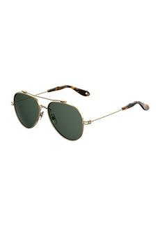 Givenchy Metal Aviator Sunglasses