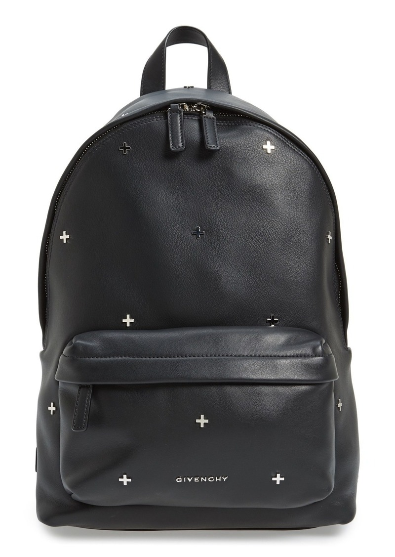 84ae39033c3f Givenchy Givenchy Metal Cross Embellished Calfskin Leather Backpack ...