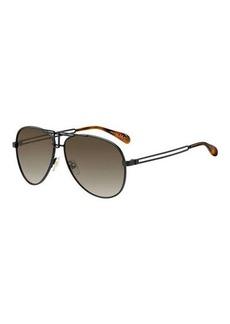 Givenchy Metal Cutout Aviator Sunglasses