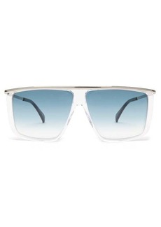 Givenchy Metallic-topbar square acetate sunglasses