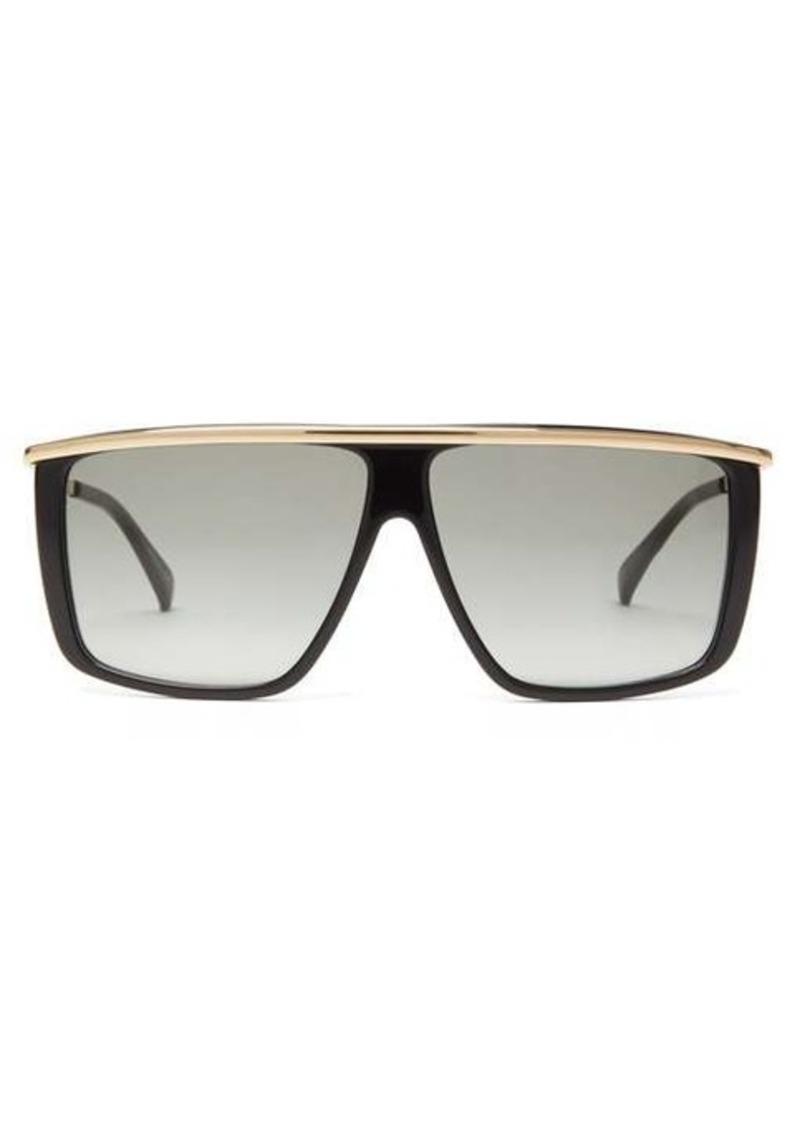 Givenchy Metallic-topbar square acetate sunglasses