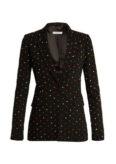 Givenchy Micro-cross appliqué single-breasted cady jacket