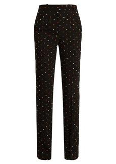 Givenchy Micro-cross appliqué straight-leg cady trousers