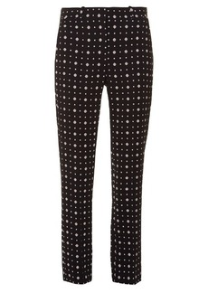 Givenchy Micro geometric-print tailored trousers