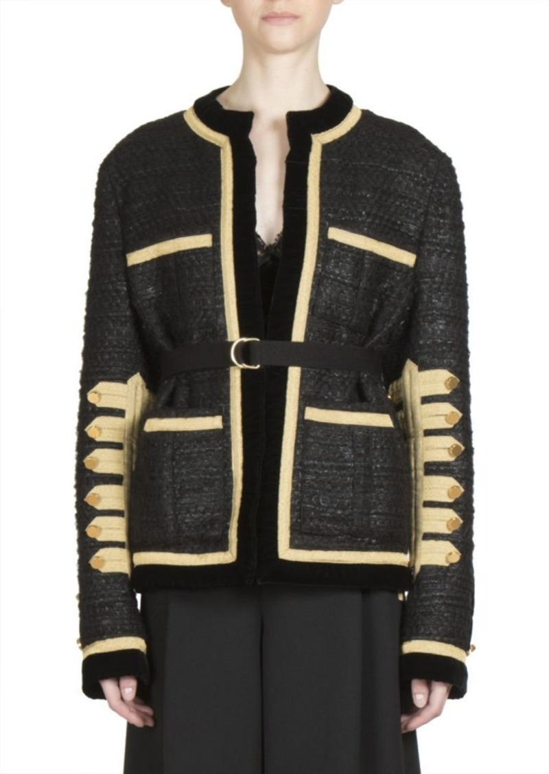 Givenchy Military Wool Blend Buttoned Jacket