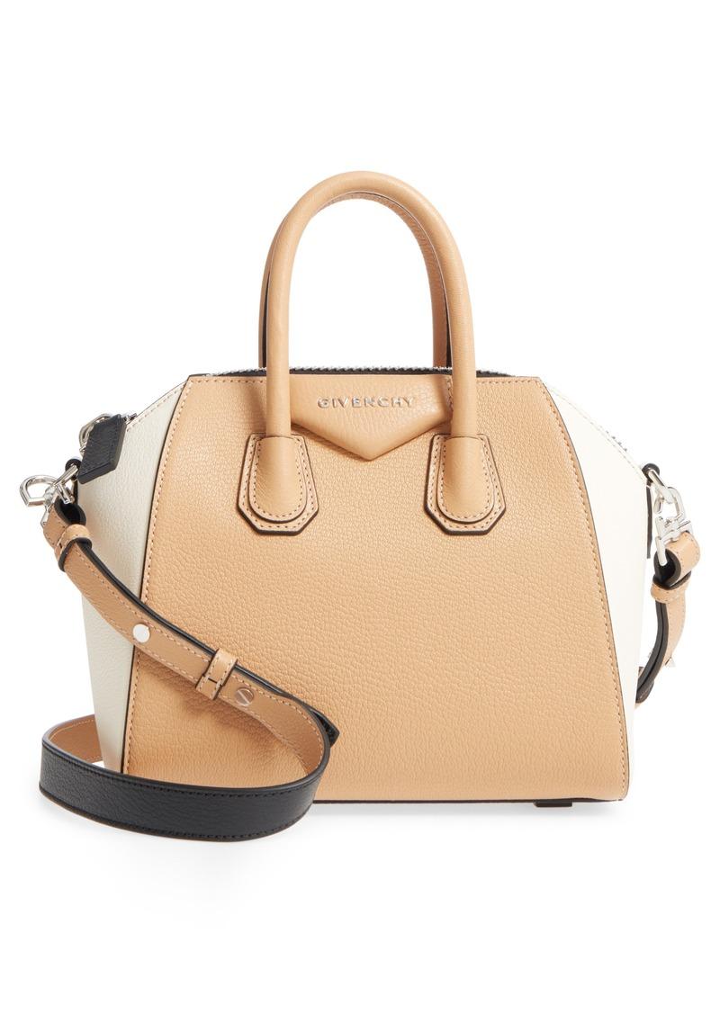 Givenchy Givenchy Mini Antigona Bicolor Sugar Leather Satchel  6d0d9a7431353