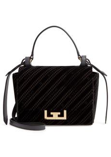 Givenchy Mini Eden Burnout Velvet Top Handle Bag