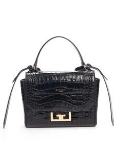 Givenchy Mini Eden Croc Embossed Calfskin Top Handle Bag