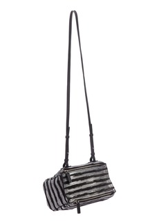 Givenchy Mini Pandora Metallic Stripe Leather Shoulder Bag