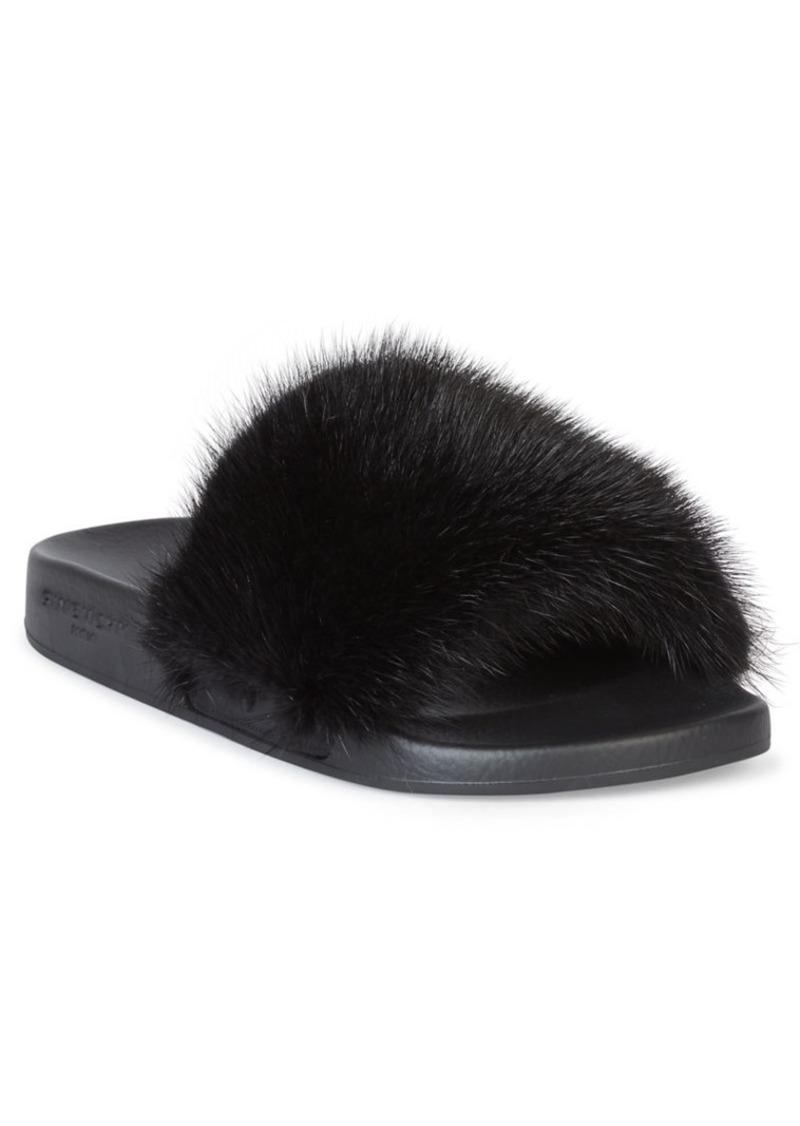 3faa314f15e7 Givenchy Women s Mink Fur   Rubber Slides