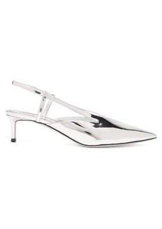 Givenchy Mirror kitten-heel slingback pumps
