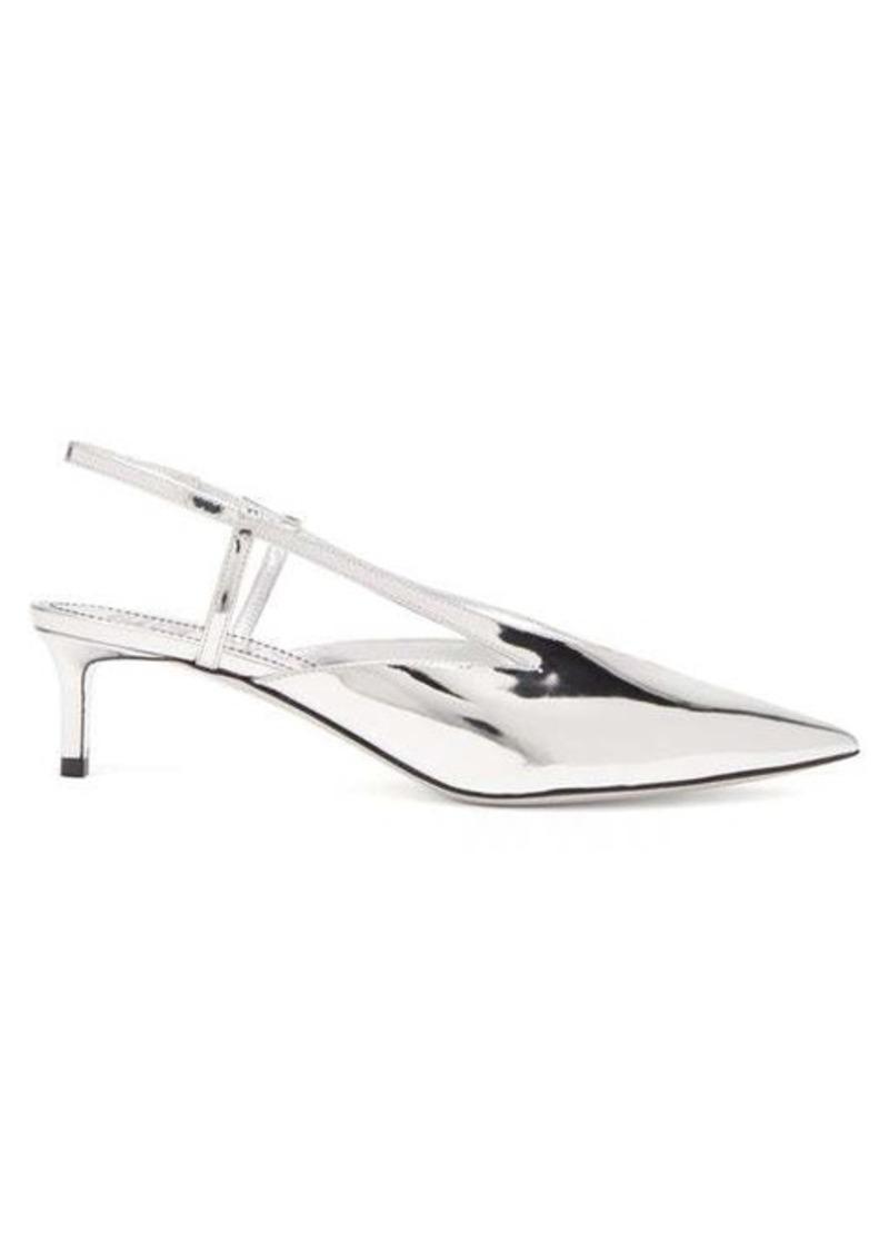 Givenchy Mirror kitten-heel slingback pumps