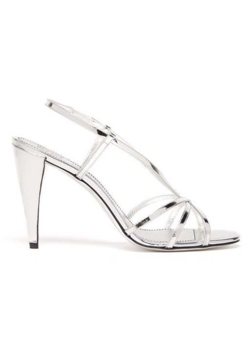 Givenchy Mirrored-leather slingback sandals