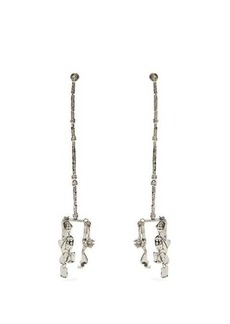Givenchy Molten hammered drop earrings