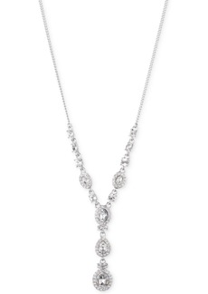 Givenchy Multi-Crystal and Pave Y-Neck Necklace