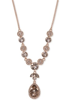 Givenchy Multi-Crystal Y-Neck Necklace