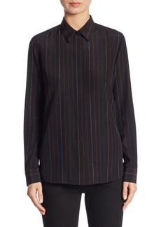 Givenchy Multicolor Pinstripe Silk Blouse