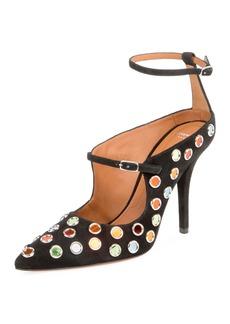 Givenchy Multicolor-Stud Ankle-Wrap Pump