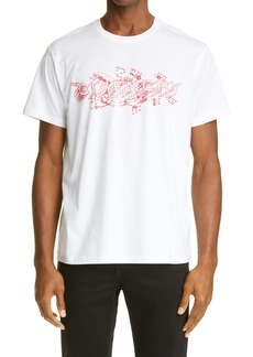Givenchy Neon Lights Logo Cotton Tee