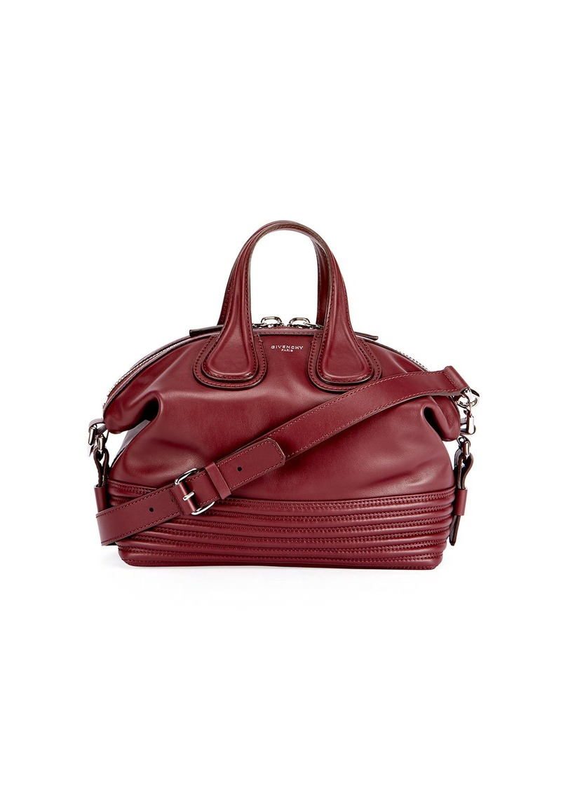 Givenchy Givenchy Nightingale Small Leather Biker-Stitch Satchel Bag ... 7ae1bdb24d61b