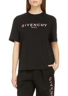 Givenchy Ombré Embroidered Logo Cotton Tee