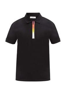 Givenchy Ombré-zipped cotton-piqué polo shirt